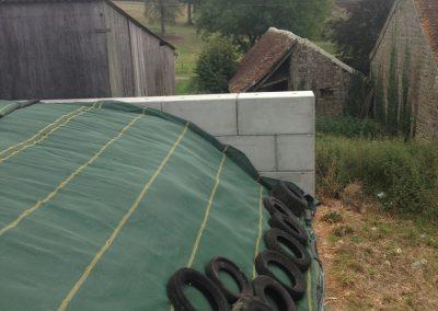 Silo d'ensilage de mais en bloc béton à clous pour un exploitant agricole